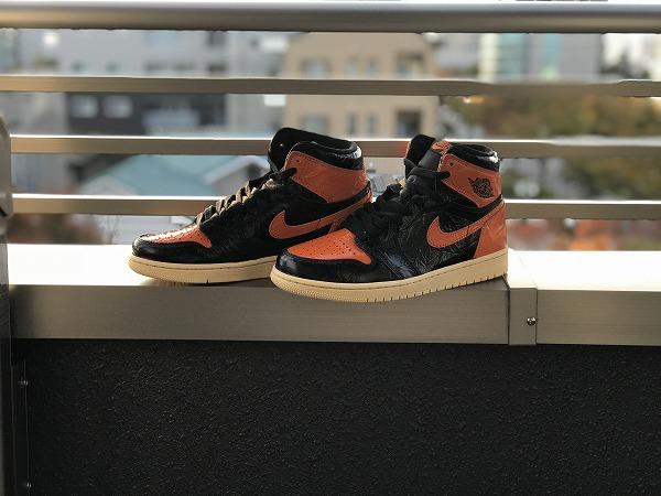 【エアジョーダン1のサイズ感】実物から徹底解説!「Nike Air Jordan 1 Retro High OG」