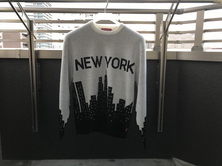 【購入レビュー】Supreme New York Sweater 2020SS サイズ感